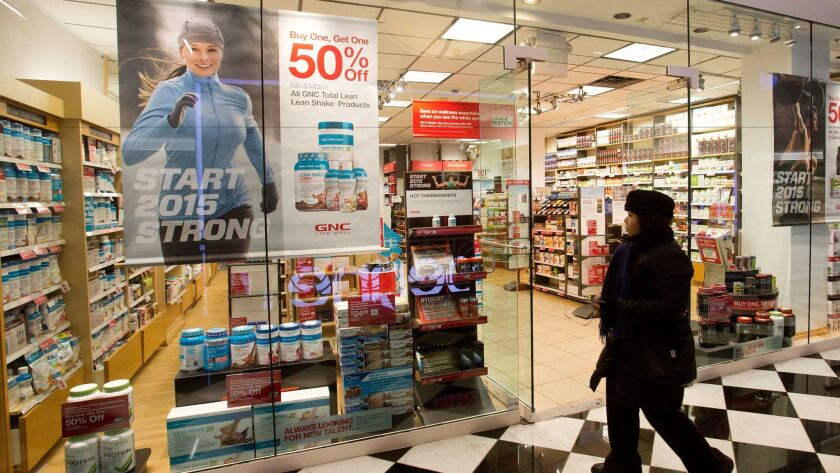 A GNC supplements store in New York shows its wares. Such items were removed from FDA jurisdiction in 1994. What other authority will the health and safety agency lose in the Trump era?