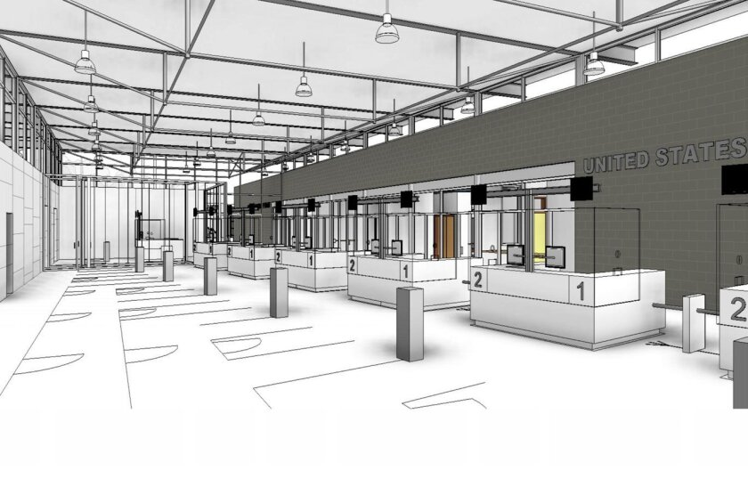 Rendering shows the interior of the future PedWest entrance scheduled to open July 15.