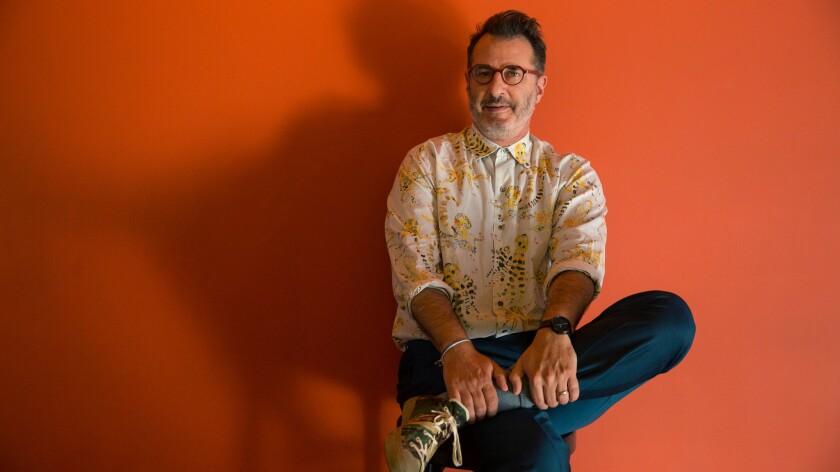 """Vicuña"" playwright Jon Robin Baitz, photographed at the Kirk Douglas Theatre."