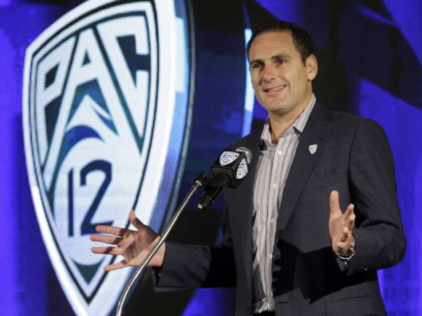 Commissioner Larry Scott was part of a conference call Thursday night to address concerns by Pac-12 football players.