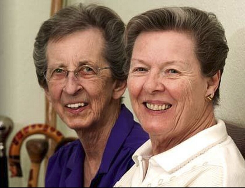 FILE - This undated file image provided by Lambda Legal shows plaintiffs and same-sex couple Beverly Sevcik, right, and Mary Baranovich. The same-sex marriage debate returns Monday Sept. 8, 2014, to the same San Francisco federal appeals court that has already issued two significant rulings in support of gay weddings. The 9th U.S. Circuit Court of Appeals will consider separate lawsuits stemming from gay marriage bans in Idaho, Nevada and Hawaii. So far, 19 states and Washington D.C. now allow gay marriages even though the U.S. Supreme Court has yet to directly rule on whether states can impose bans. (AP Photo/Lambda Legal, File)