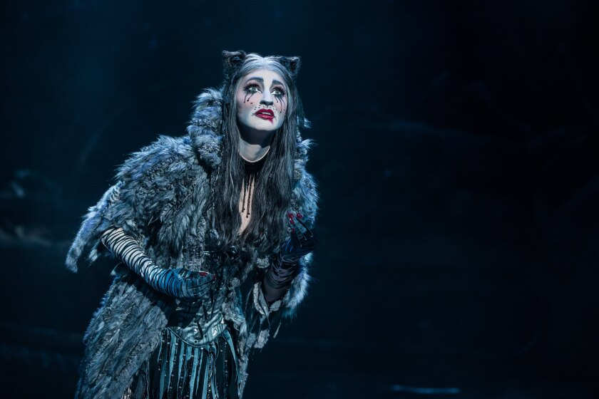 """Keri René Fuller as Grizabella in the touring production of """"Cats."""""""