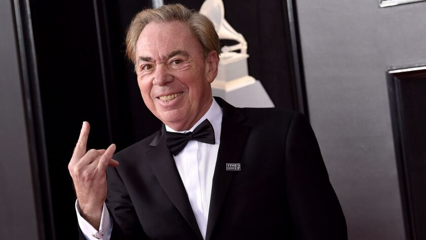 Andrew Lloyd Webber, photographed in January at the Grammy Awards in New York.