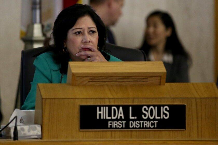 Los Angeles County Supervisor Hilda Solis