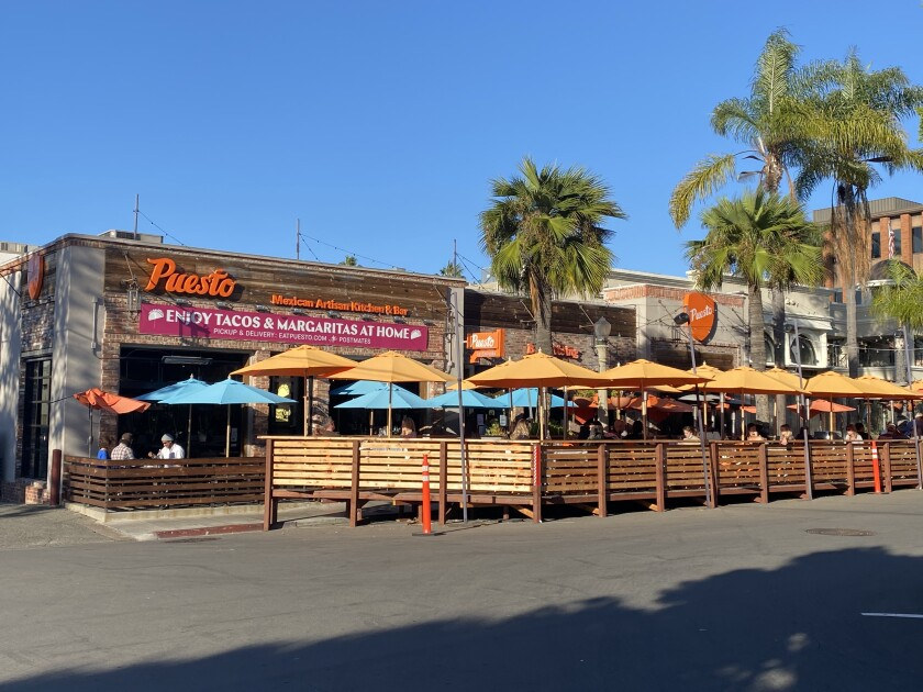 Puesto outdoor dining in La Jolla.