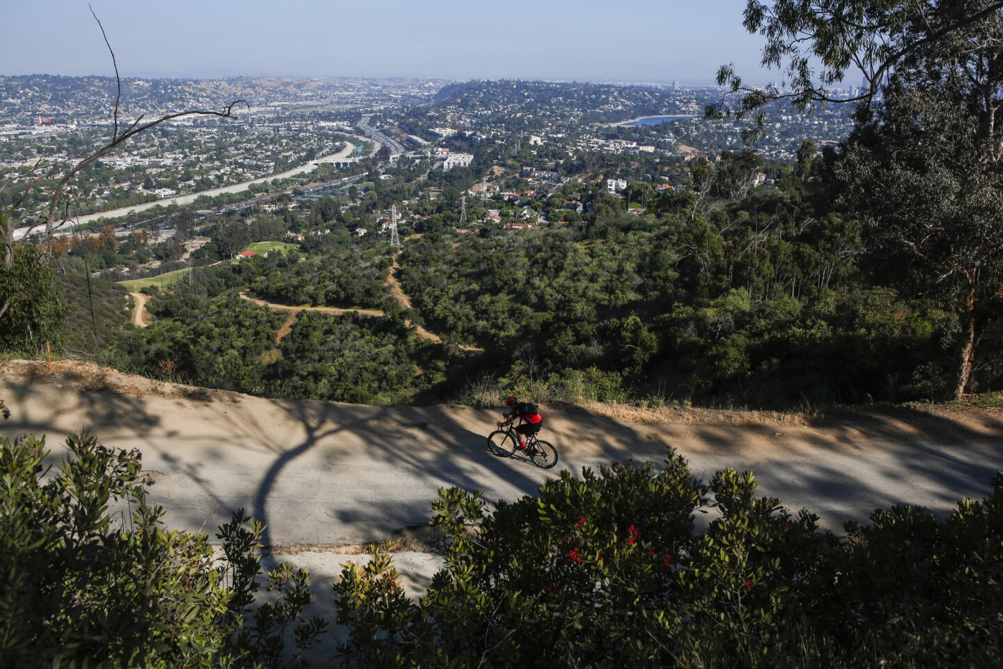 This unique trail located south of Griffith Park holds spectacular views of cities, bikers and hikers.