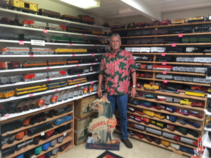 Cardiff resident Bob Shultz has collected about 100 train sets over the years.