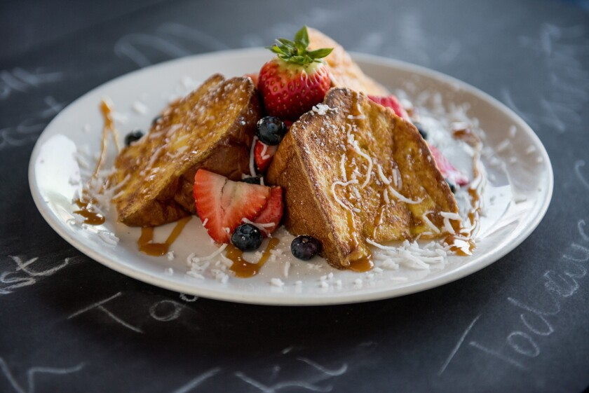 Broken Yolk Cafe's Tiki Toast, a relatively recent addition to the menu, is a customer favorite.