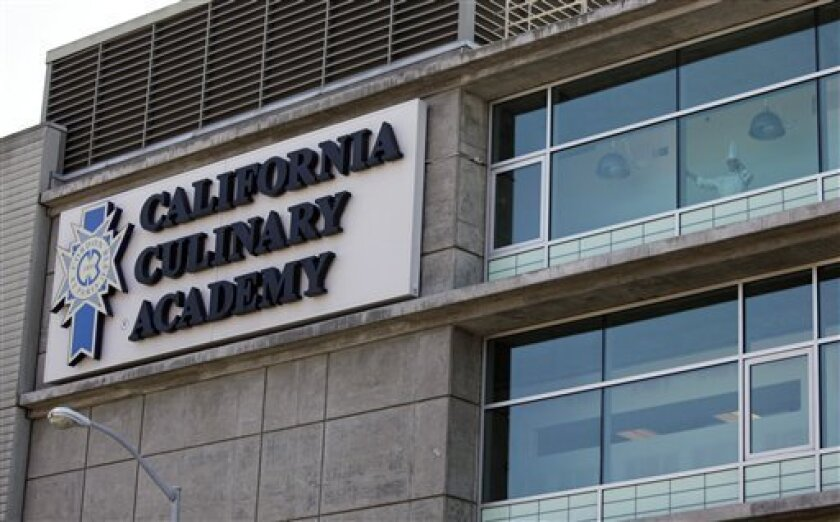 In this Sept. 1, 2011 photo is the California Culinary Academy, which is part of the Le Cordon Bleu chain of for-profit cooking schools, in San Francisco. The chain is coming under fire for its marketing practices as its graduates struggle to find culinary jobs and pay off their hefty student loans
