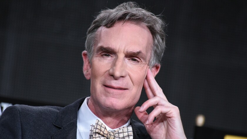 Bill Nye speaks on stage at the National Geographic Channel 2015 Winter TCA in Pasadena on Jan. 7.