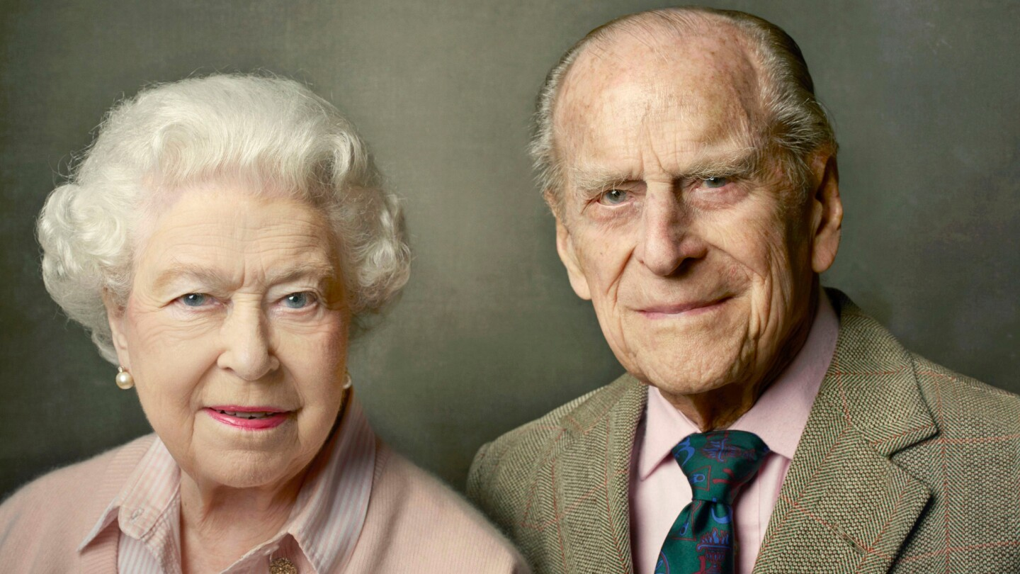 Queen Elizabeth II and Prince Philip were photographed by Annie Leibovitz in Windsor, England, for a portrait marking the queen's 90th birthday that was released in June 2016 by Buckingham Palace.