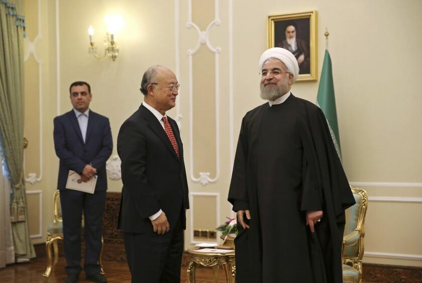 Hassan Rouhani meets with Yukiya Amano