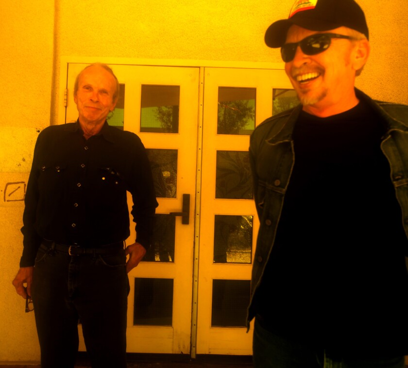 "Siblings Phil, left, and Dave Alvin in Downey on Aug. 31, 2015. The brothers' new album, ""Lost Time,"" further explores the blues and R&B influences that inspired the Downey residents as kids before they grew up and formed the Blasters roots-rock band."