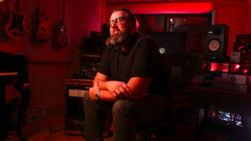 """Busbee, who co-produced Maren Morris' Grammy-nominated """"Hero,"""" at his studio in Los Angeles."""