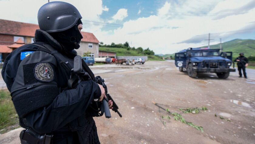 Kosovo police major anti-smuggling operation, Cabra, Serbia - 28 May 2019