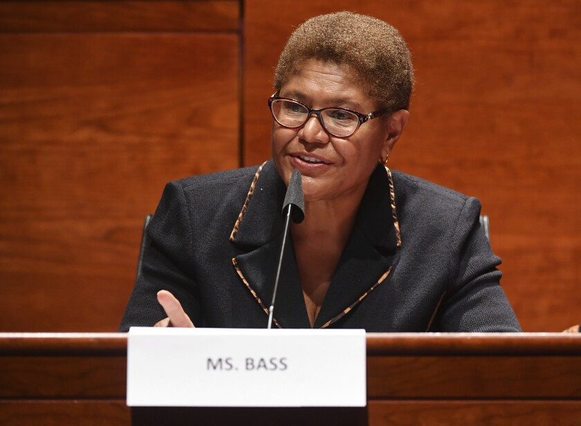Rep. Karen Bass speaks during a House Judiciary Committee meeting in June.