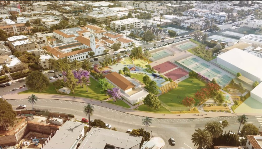 A rendering depicts plans to renovate the La Jolla Recreation Center.