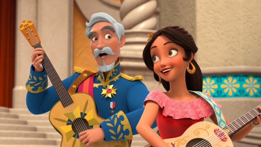 """La actriz de ascendencia dominicana Aimee Carrero usa su voz para darle vida a la protagonista de """"Elena of Avalor"""", primera producción de Disney en contar con una princesa específicamente hispana."""