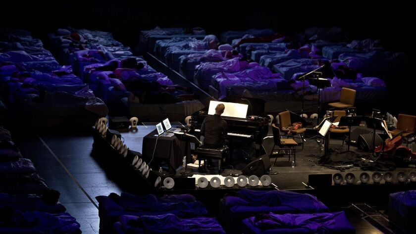 """Max Richter's immersive 8-hour work """"Sleep"""" will be performed in Grand Park in downtown L.A."""