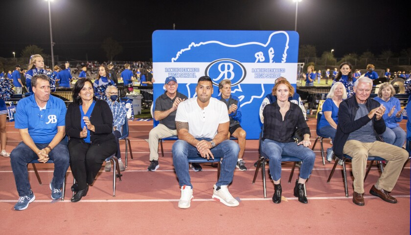 Many of the Class of 2020 and Class of 2021 Rancho Bernardo High School Hall of Fame inductees.