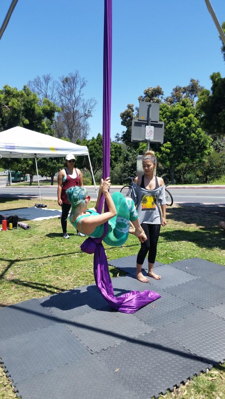 Yoga took on many forms at Balboa Park