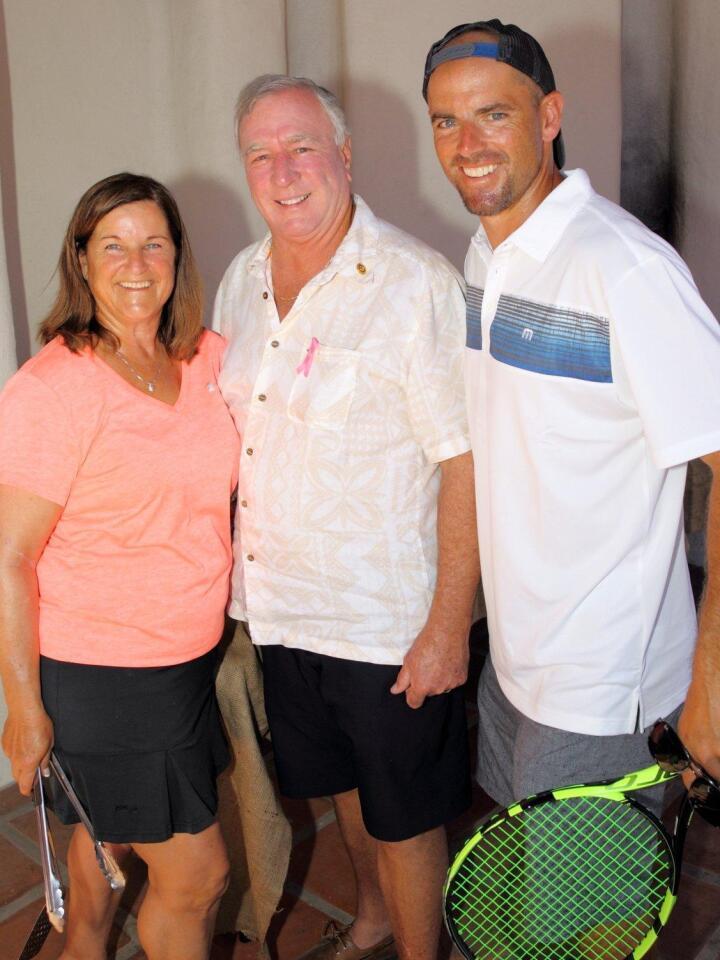 Barbara McClenahan, Alan Balfour, Head Teaching Pro Derek Miller
