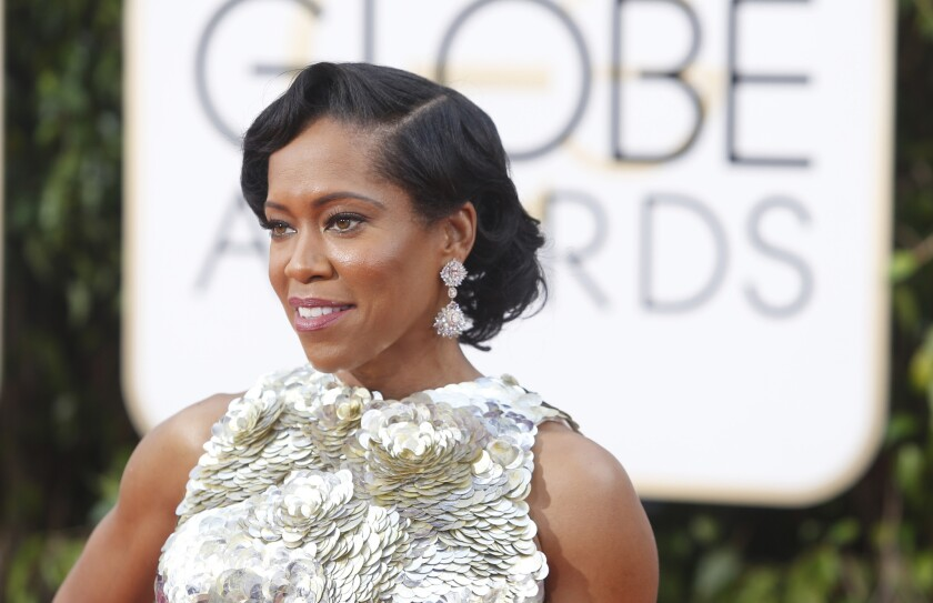 Regina King at the 73rd Golden Globes show at the Beverly Hilton Hotel on Jan. 10, 2016. King will also be honored at the 2016 ABFF Awards.