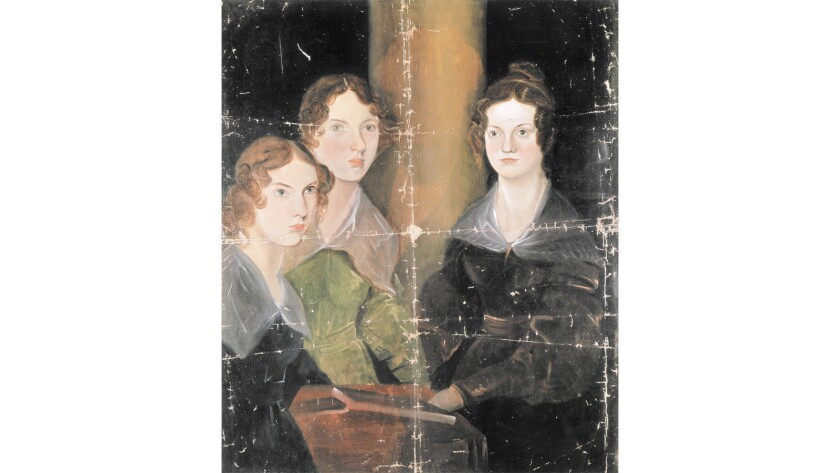 A portrait of Anne Bronte (Thornton, 1820 — Scarborough, 1849), Emily Bronte (Thornton, 1818 — Haworth, 1848) and Charlotte Bronte (Thornton, 1816 — Haworth, 1855), English writers. Oil on canvas by Patrick Branwell Bronte (1817-48), circa 1834.
