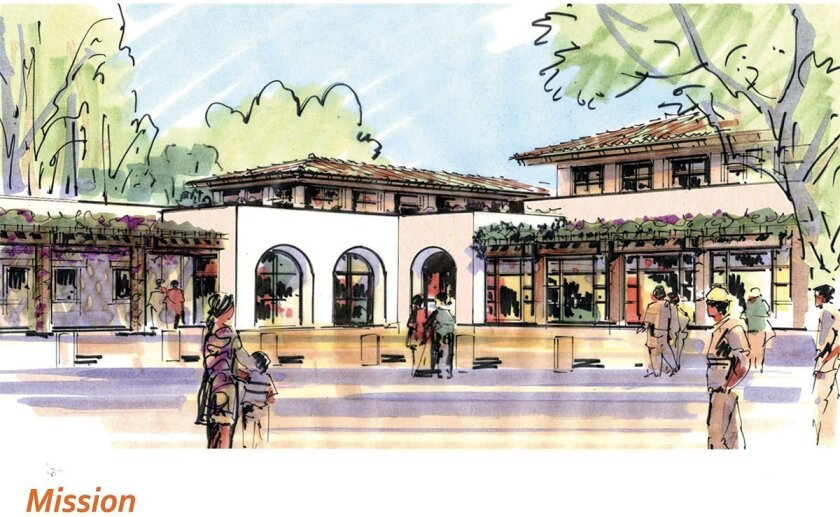 Artist's drawing of the proposed Mickey Cafagna Community Center, which is now estimated to cost $20 million to build.