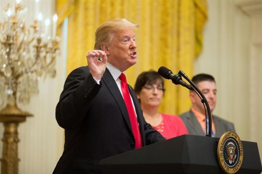 El presidente de los Estados Unidos, Donald J. Trump, ofrece un discurso. EFE/Archivo