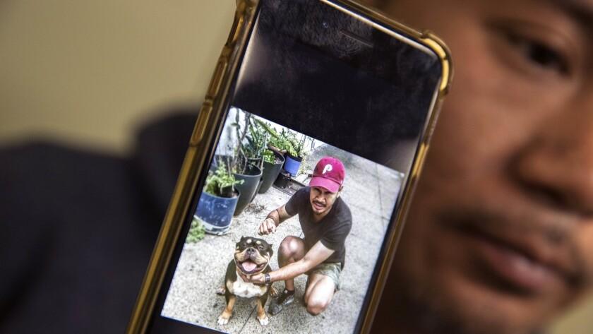 "LOS ANGELES, CA -- WEDNESDAY, NOVEMBER 1: Cambodian refugee Posda Tout, cousin of detainee Nak Kim """