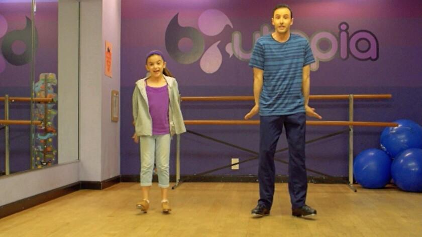 "Hayley Shukiar and Stephen Kogon in the movie ""Dance Baby Dance."""