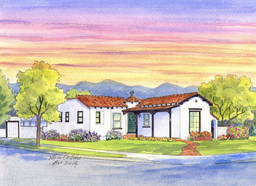 Local artist Leisa Collins' portrait of a Glendale home