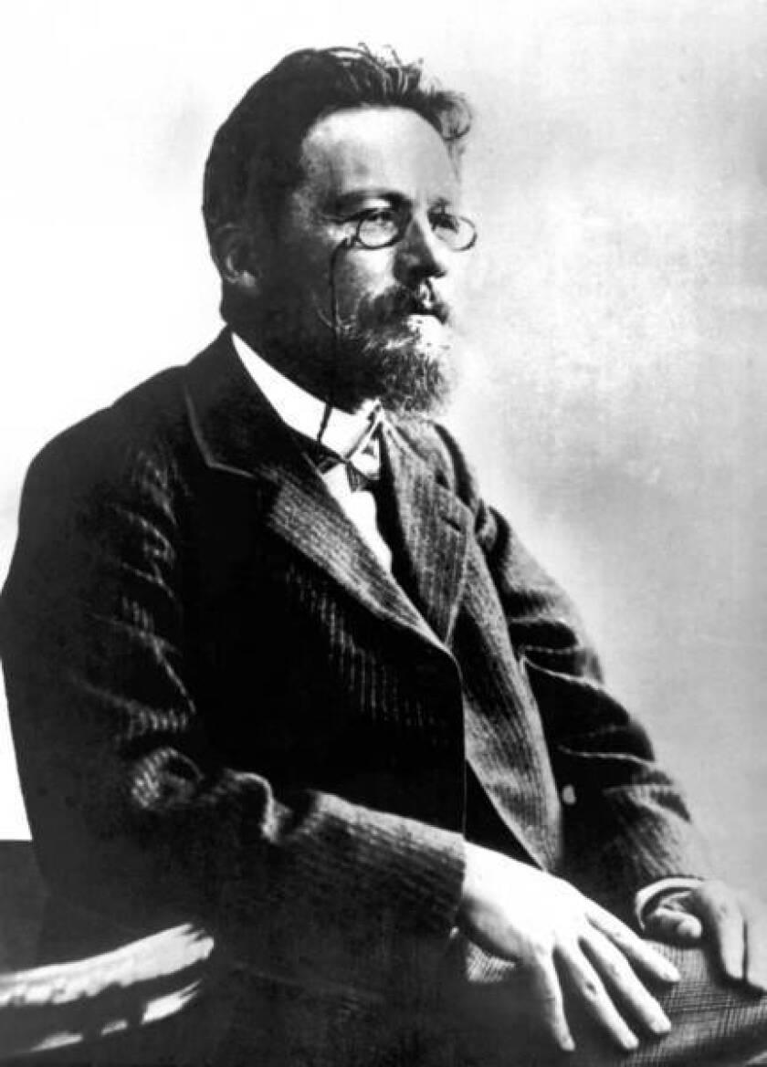 Russian writer Anton Chekhov around 1890-1904.