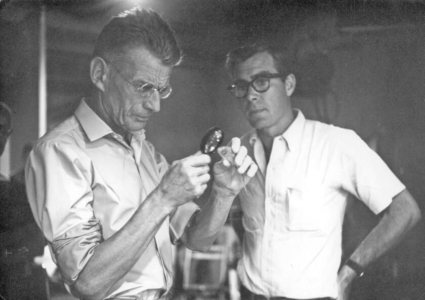 "Samuel Beckett, left, in ""Notfilm."""