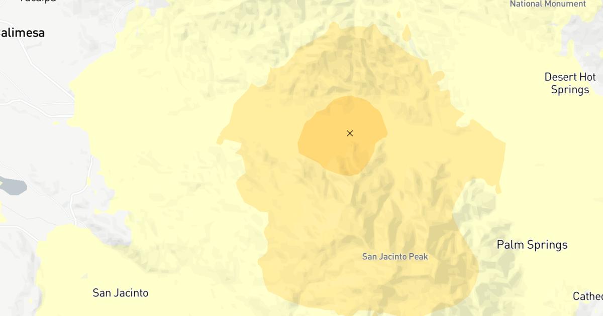 Erdbeben: Magnitude 3.5 Beben Streiks in der Nähe von Palm Springs