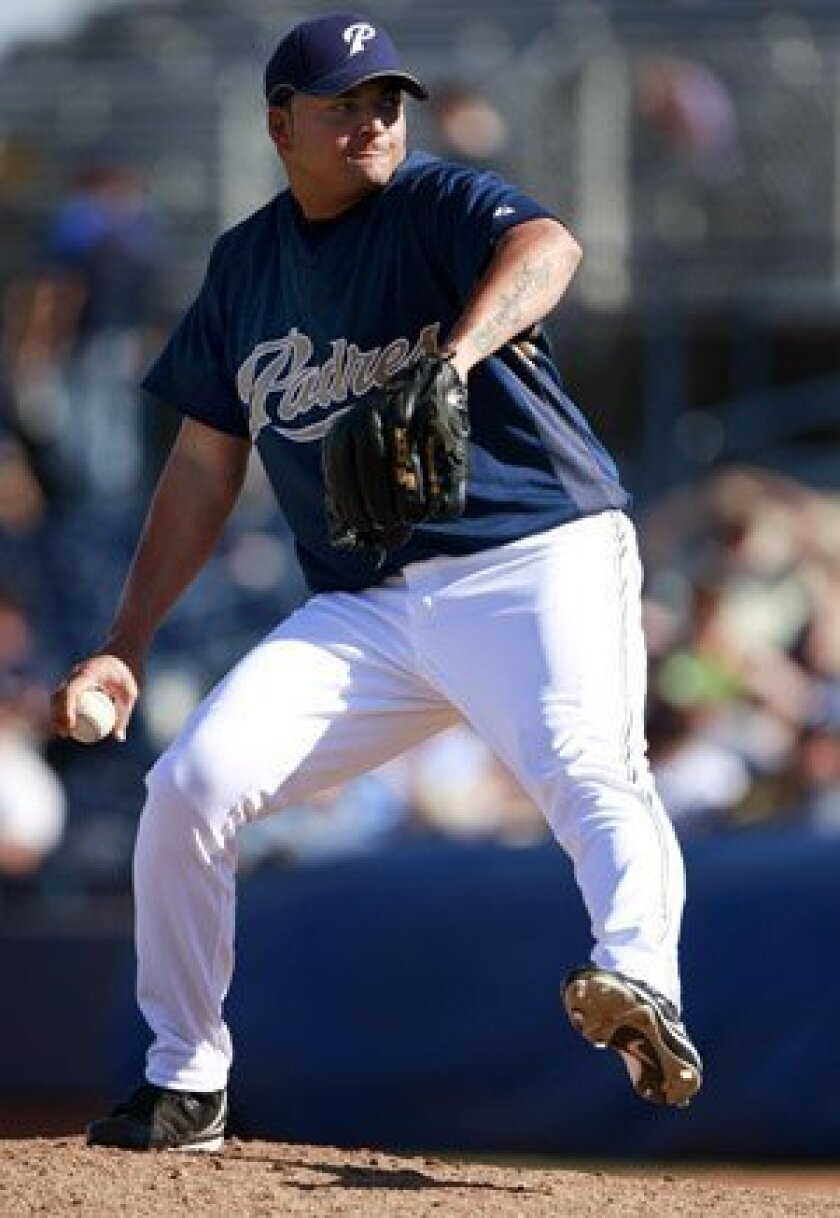 Edwin Moreno is one of four players on the Padres roster from Venezuela.