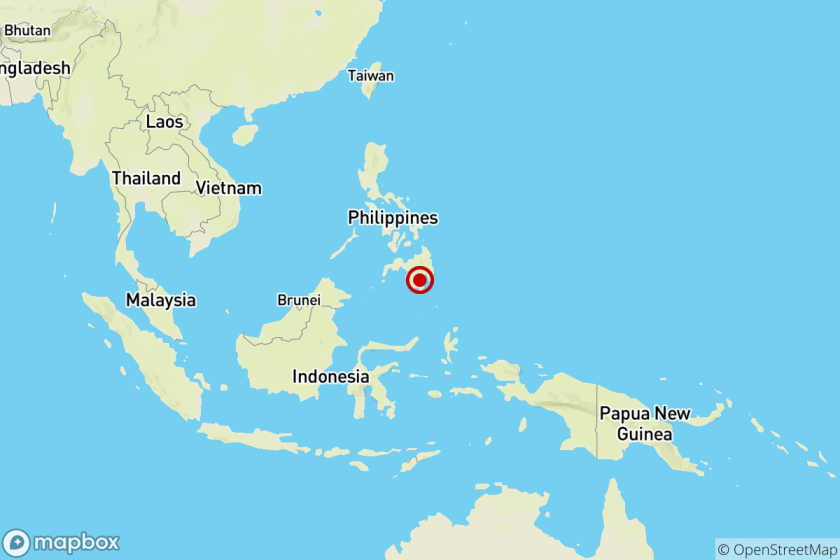 Earthquake: 6.8 quake strikes near Hagonoy, Philippines