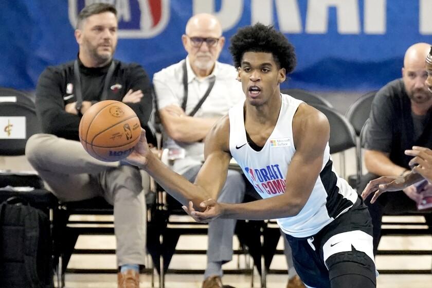 Arizona State's Josh Christopher in the NBA draft combine.