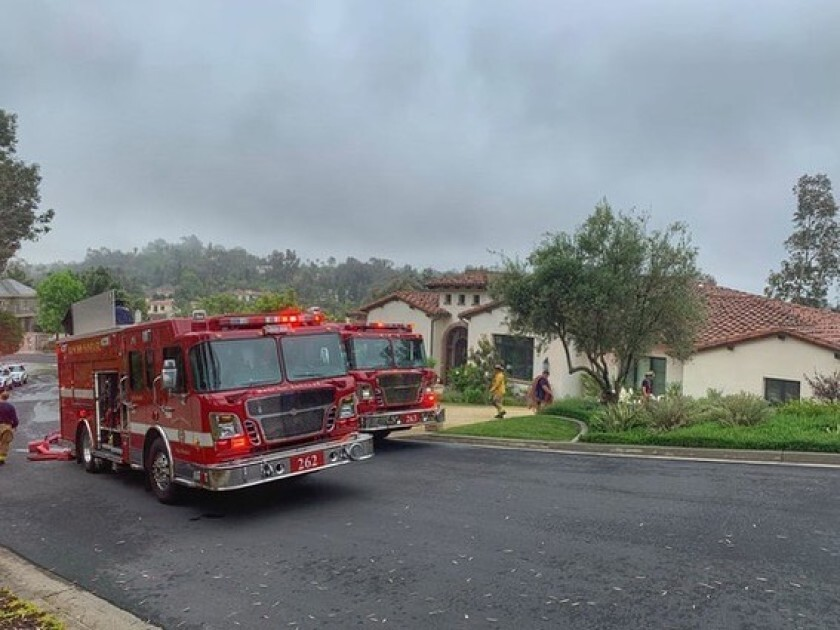 RSF Fire Protection District crews responding to a residential structure fire earlier this year.