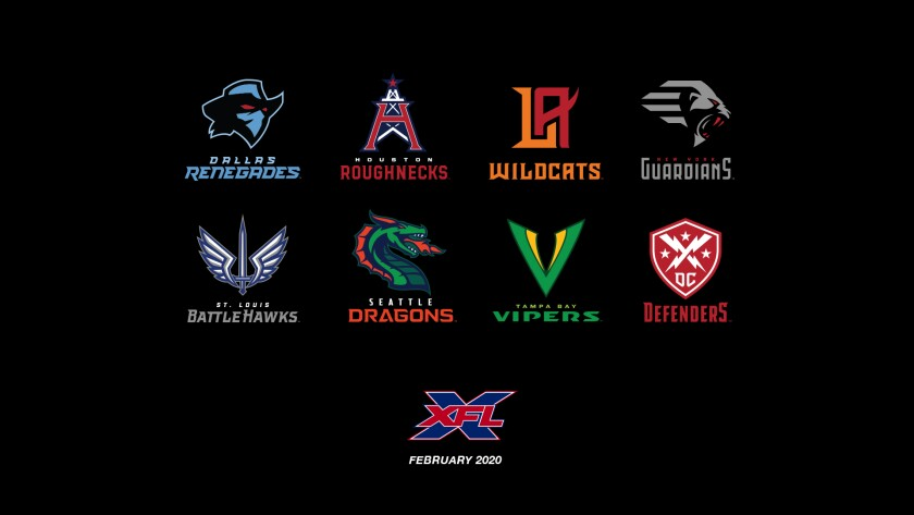 The XFL revealed the team names and logos for its eight franchises Wednesday.