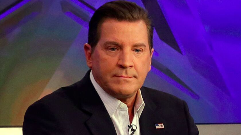 Eric Bolling, shown on the Fox News set on July 22, 2015, was suspended last month.