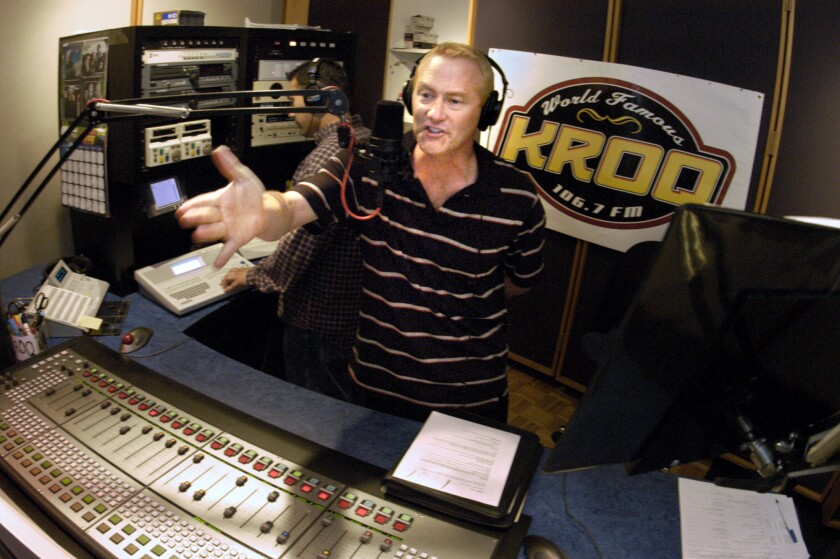 """Kevin Ryder of KROQ's """"Kevin & Bean"""" morning show"""