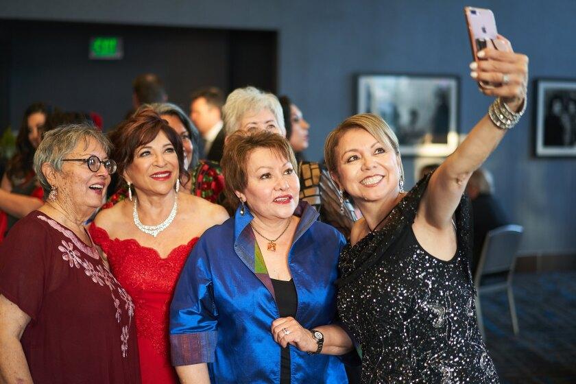 Elisa Sanchez, Mayor Mary Casillas Salas, Rita Jaramillo, Lidia S. Martinez