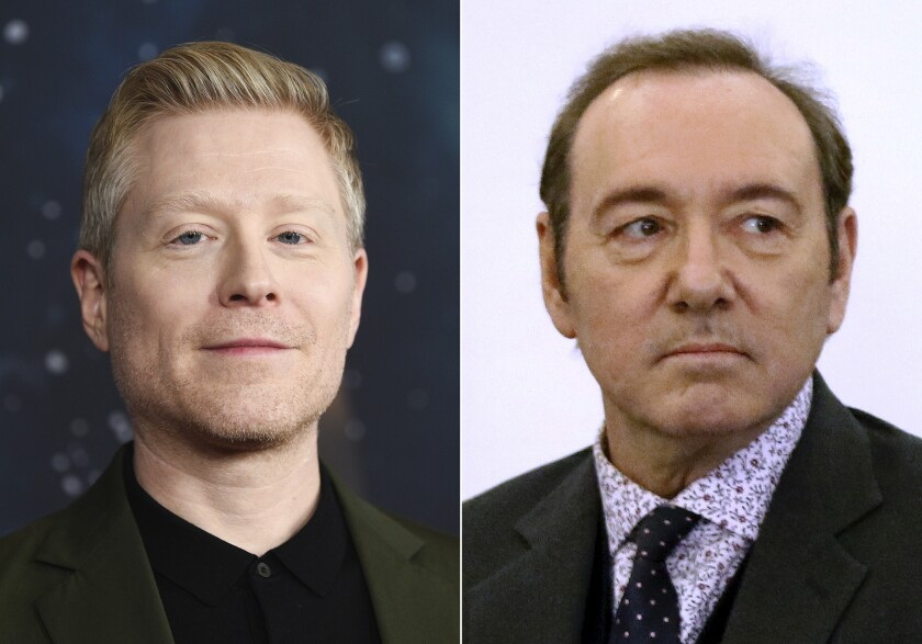 Anthony Rapp, left, has accused fellow actor Kevin Spacey of sexual assault.