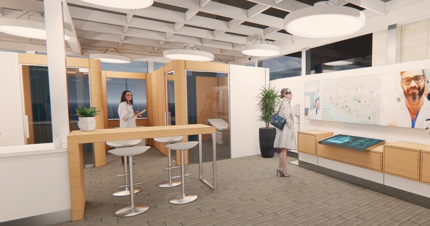 A rendering of the Fly Well Clinic