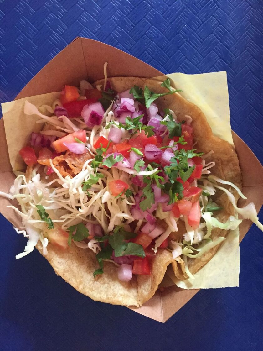 A 99-cent fish taco at Oscar's Mexican Seafood in San Diego's East Village.