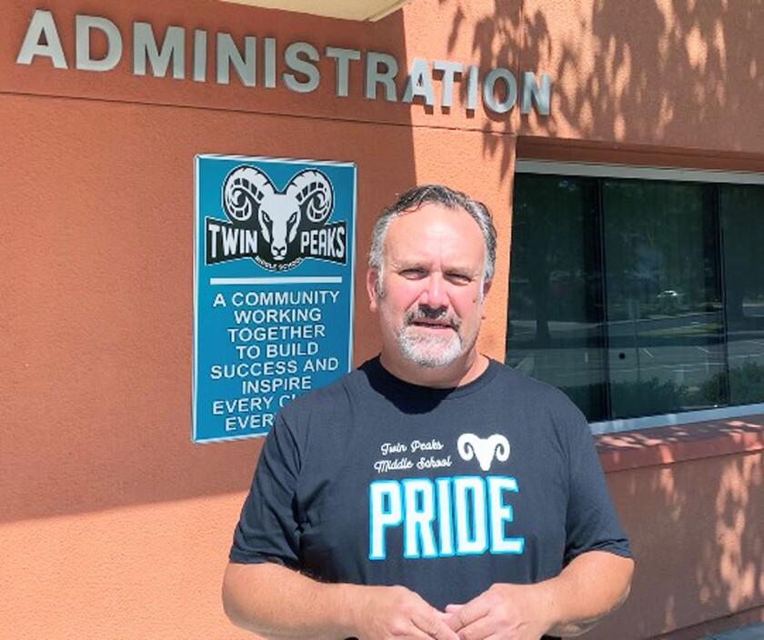 Stephen Mills, Twin Peaks Middle School's new principal.