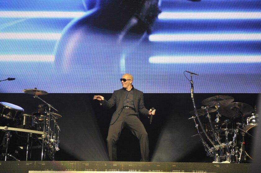 "Pitbull performed ""Hey Baby"" at the Sleep Train Amphitheater on Sunday night in Chula Vista, Ca song Baby."
