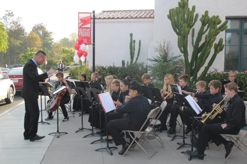 The R. Roger Rowe Middle School band performing last year.